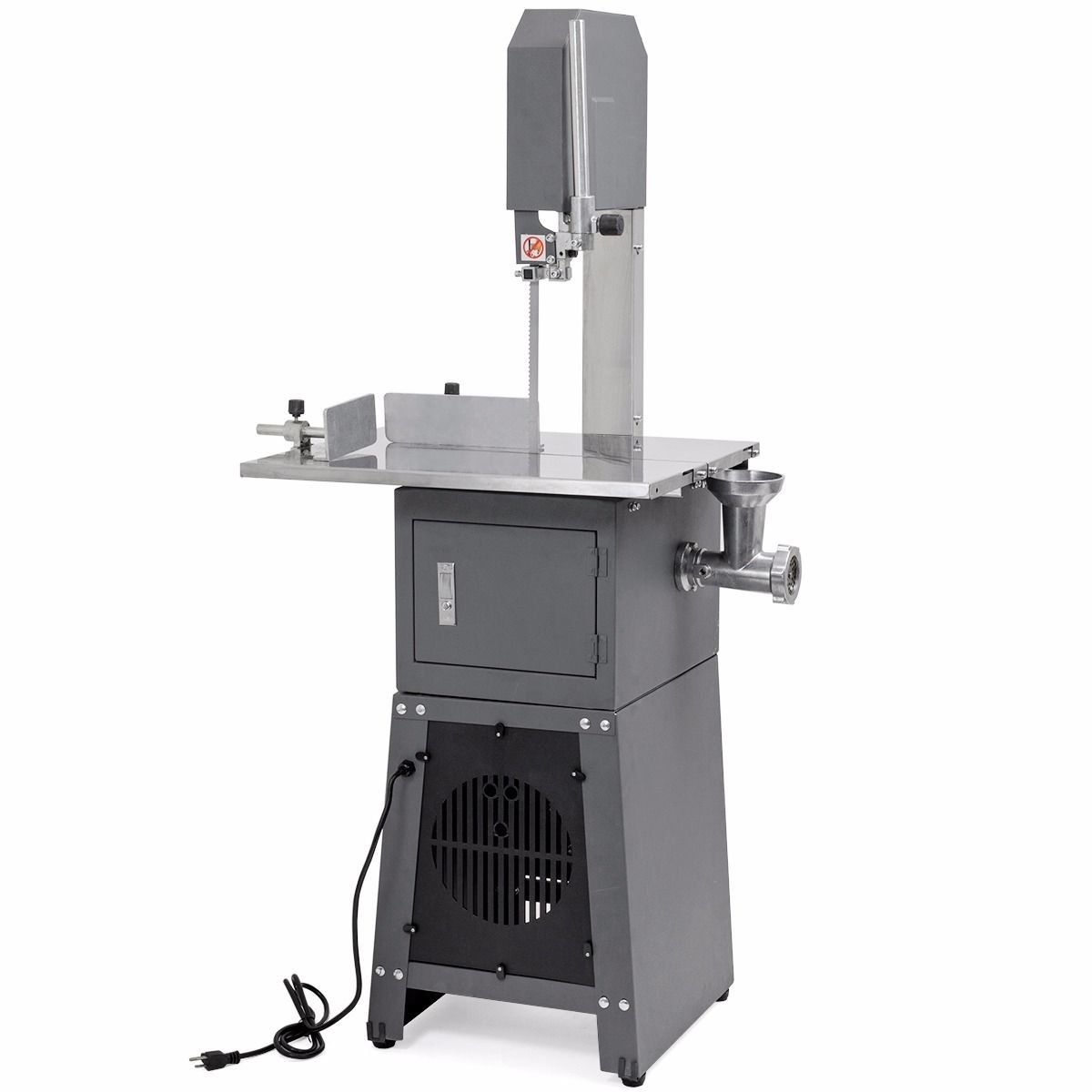 XtremepowerUS 2-in-1 Professional Butcher Meat Cutting Cutter Band Saw Mincer Grinder Sausage Stuffer Maker, 550W by XtremepowerUS