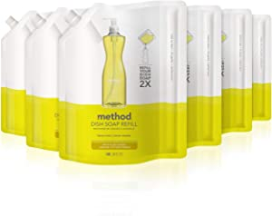 Method Dish Soap Refill, Lemon Mint, 36 Ounce (6 Count)
