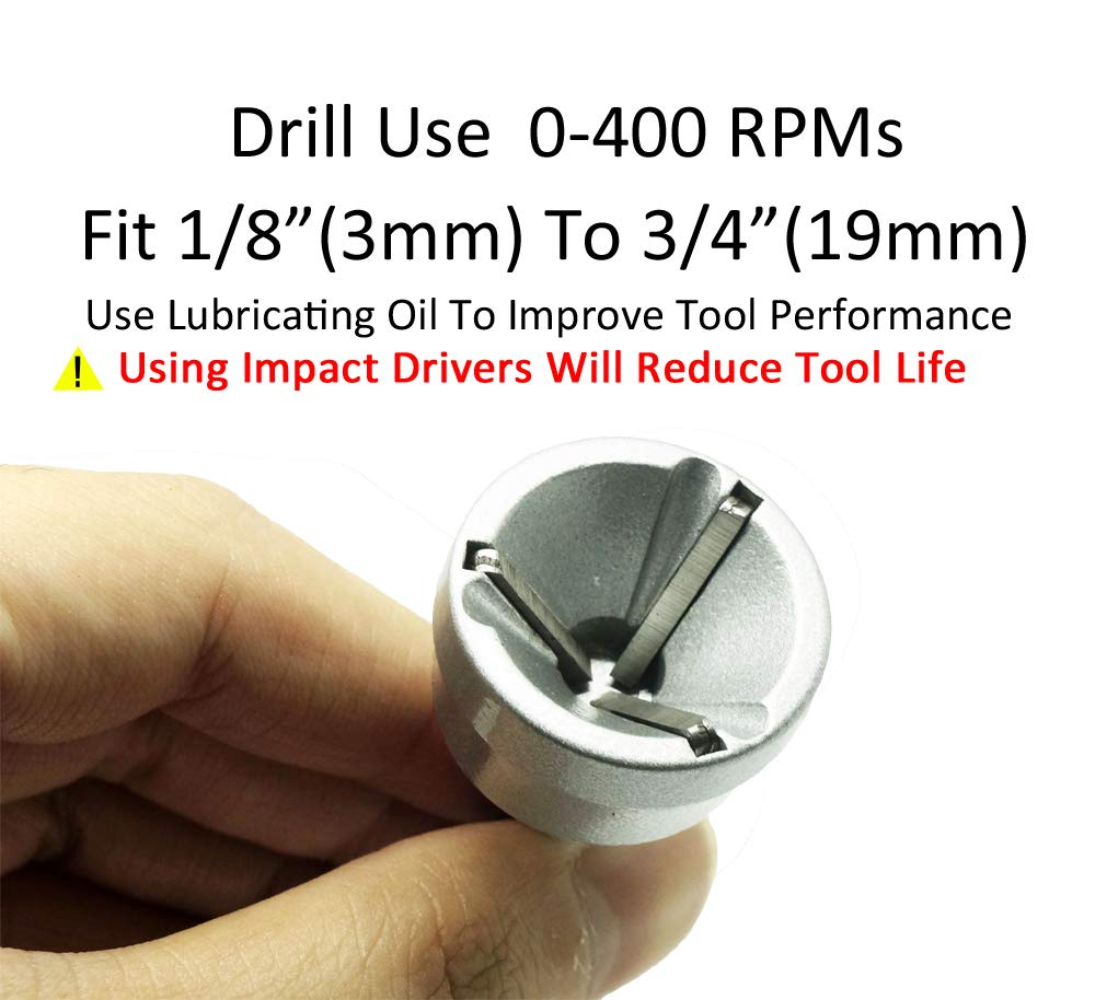 ORXPLUS TOOLS Deburring External Chamfer Tool 15mm-35mm Deburring Drill Bit Remove Burr Tools for Fit 1//2-3//8