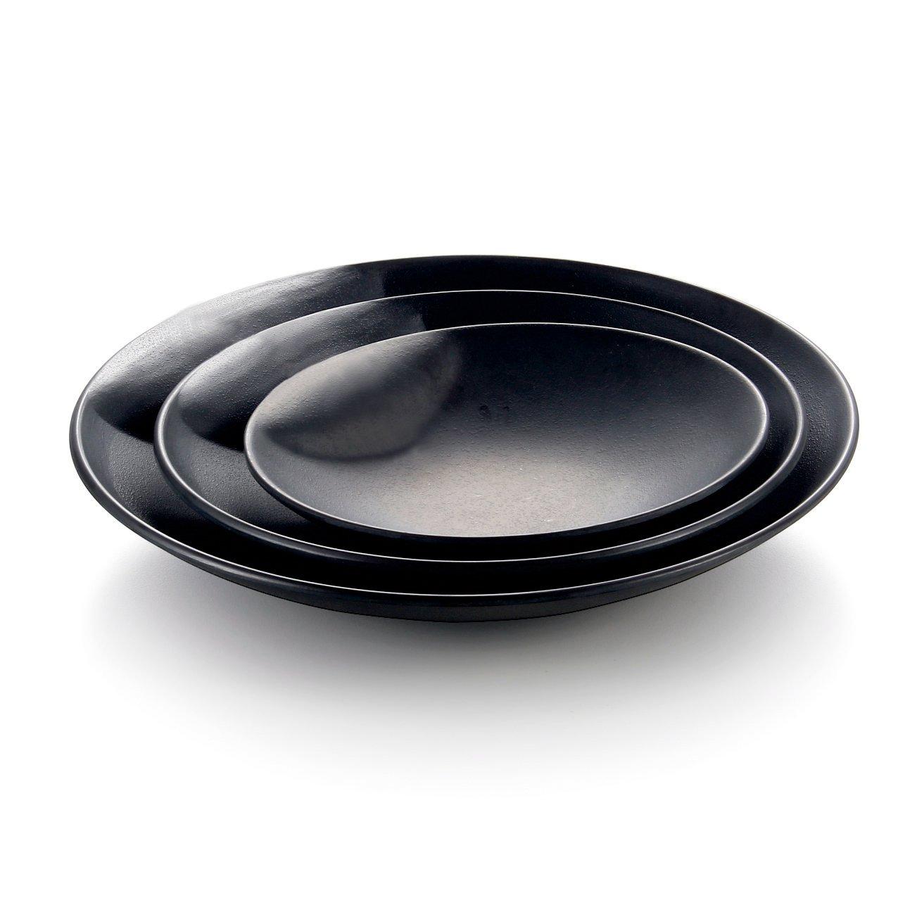 1 Pc Kinglang Melamine Plastic Matte Round Plate