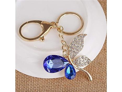 MEIDI Home Bolsa Bolso Decoración Keyring_Blue Moda Cristal ...