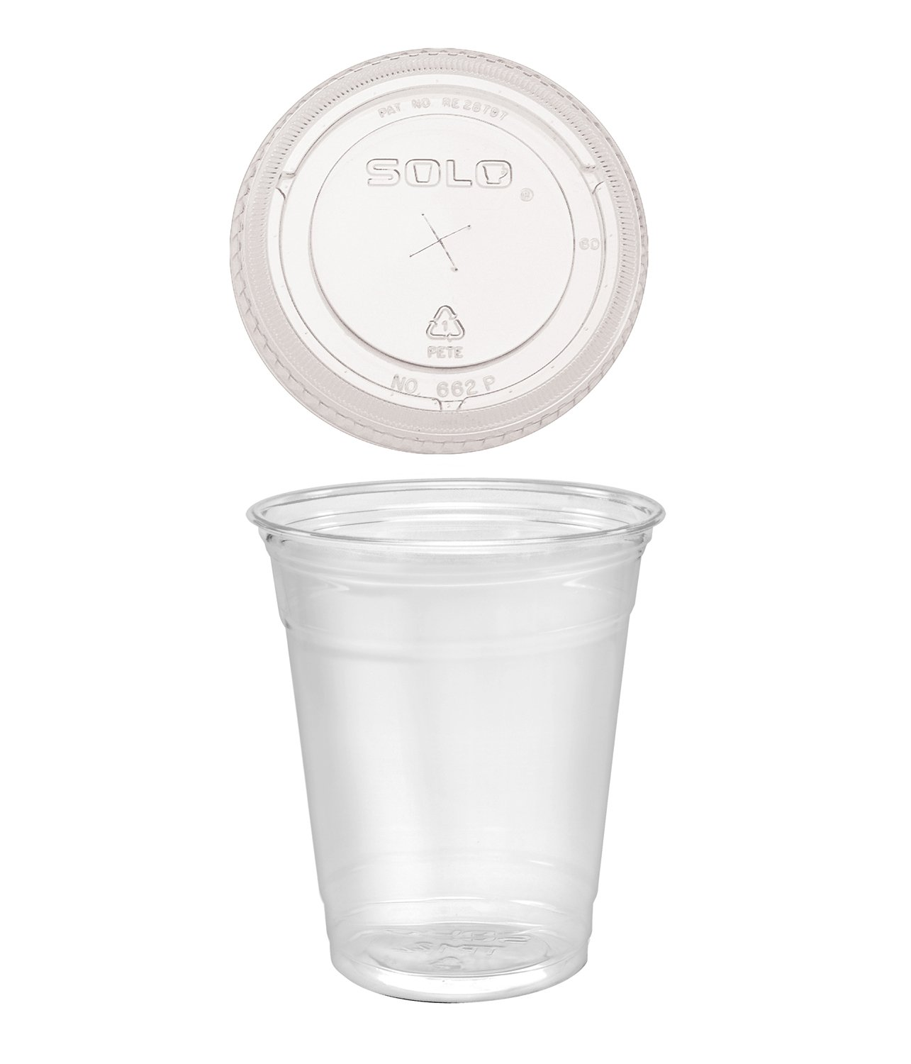 Clear Plastic Disposable Cups for Iced Coffee Bubble Boba Tea Smoothie, 12 oz - 100 Sets with Dome Lids A World of Deals® 12PET/DR662-100