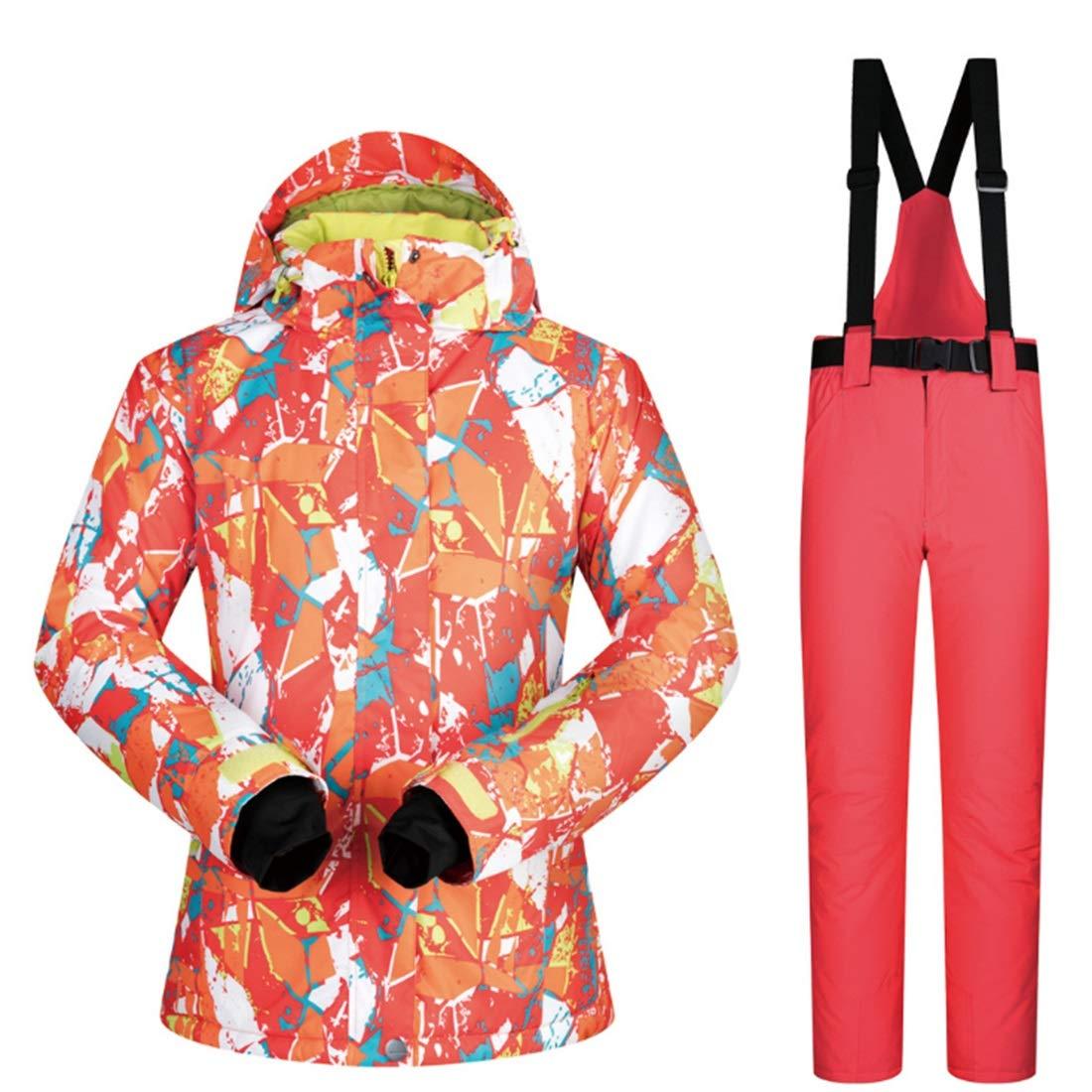 KAKACITY 女性のスノーシューズウィンタースキージャケットとズボンはゼロコートの下に設定 (色 : 09, サイズ : XL)  X-Large