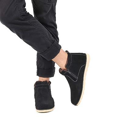 Gracosy Chaussures de Ville Hiver, Bottines de Neige en Suede Imperméable à  Talons Plats Bottes b839427b8e37