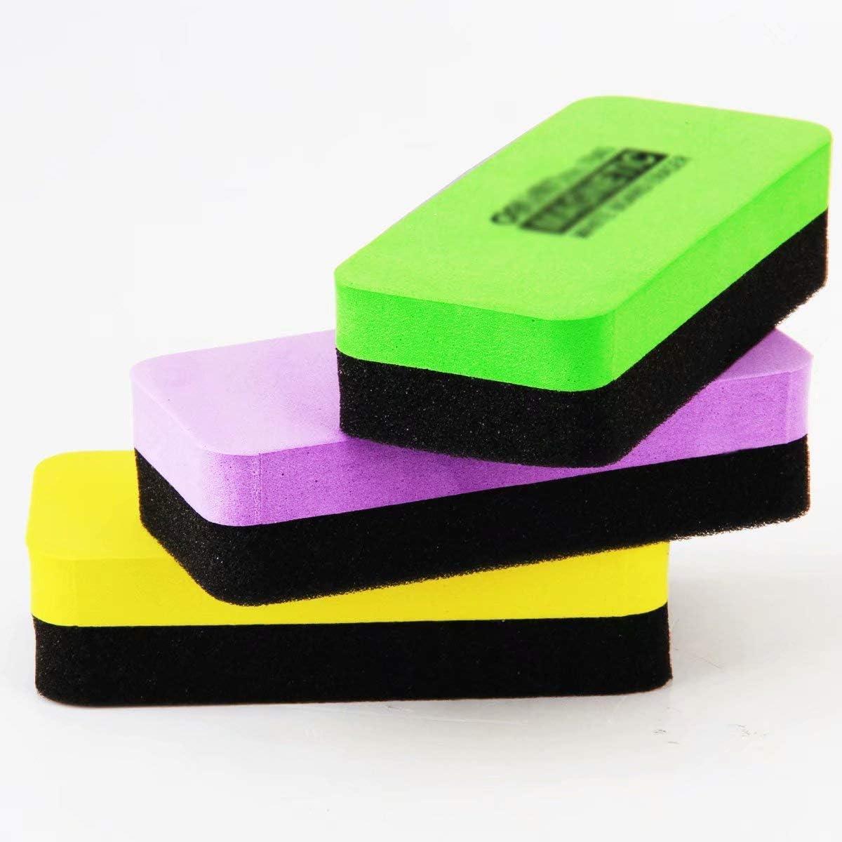 4Pcs Magnetic White Black Board Dry Wipe Cleaner Eraser Chalkboard Chalk Eraser for Office Classroom