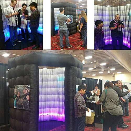 Octagon Inflatable Portable Photo Booth - Inflatable Photobooth with Led Light Strip and Inner Air Blower Octagon Booth Stand for Party, Wedding, Birthday, Halloween Decoration(Two Doors) by AIRMAT FACTORY (Image #6)
