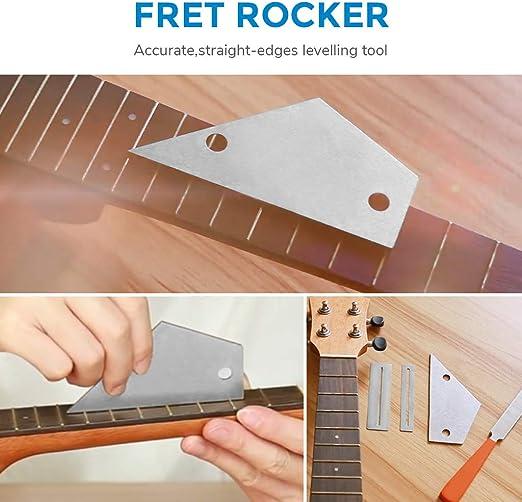 Alnicov Juego de herramientas de molienda para guitarra de acero inoxidable para luthier y guitarra 7 unidades