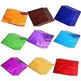 STOBOK 900 Piezas de Papel de Aluminio Envoltorios de Chocolate Papel de Envoltura de Aluminio para Empacar Bombas de Baño de