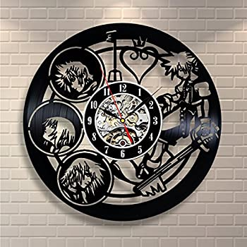 Kingdom Hearts Anime Vinyl Clock - Vinyl Record Wall Clocks