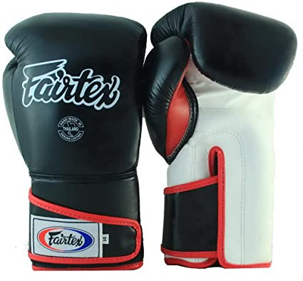 BOXING BGV6 GLOVES WHITE BLACK COLOR SPARRING MMA FAIRTEX MUAY THAI KICK
