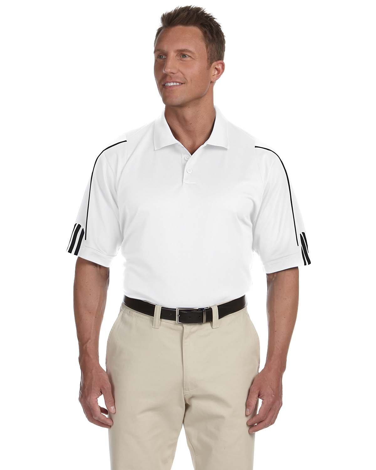 Adidas Men's 3-Stripes Contrast Piping Polo
