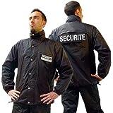 Blouson noir agent de sécurité opex