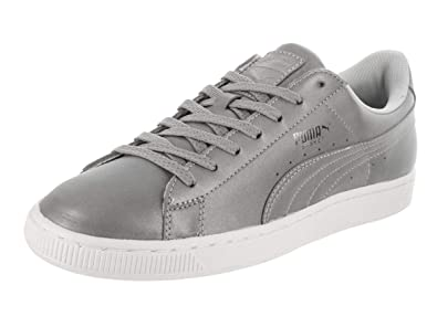 cba3154f691 PUMA Basket Reflective Mens in Silver Metallic Black