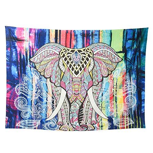 Tapestry AmyHomie Bohemian Wall Hanging Tapestries Mandala Throw Decor Beach Table Runner Cloth Elephant