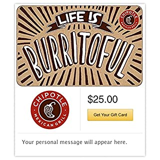 Chipotle Gift Card - Email Delivery (B01M747BRW) | Amazon Products