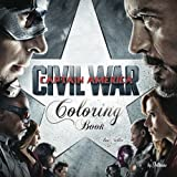 #17 Coloring Book Captain America Civil War: best seller, anxiety and stress relief, serenity and relaxation, 100pgs (Volume 17)