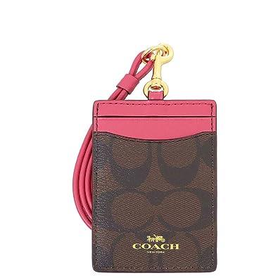 6ade2f9e3472 [コーチ] COACH 小物(カードケース) F63274 ブラウン×ストロベリー シグネチャー PVC ID