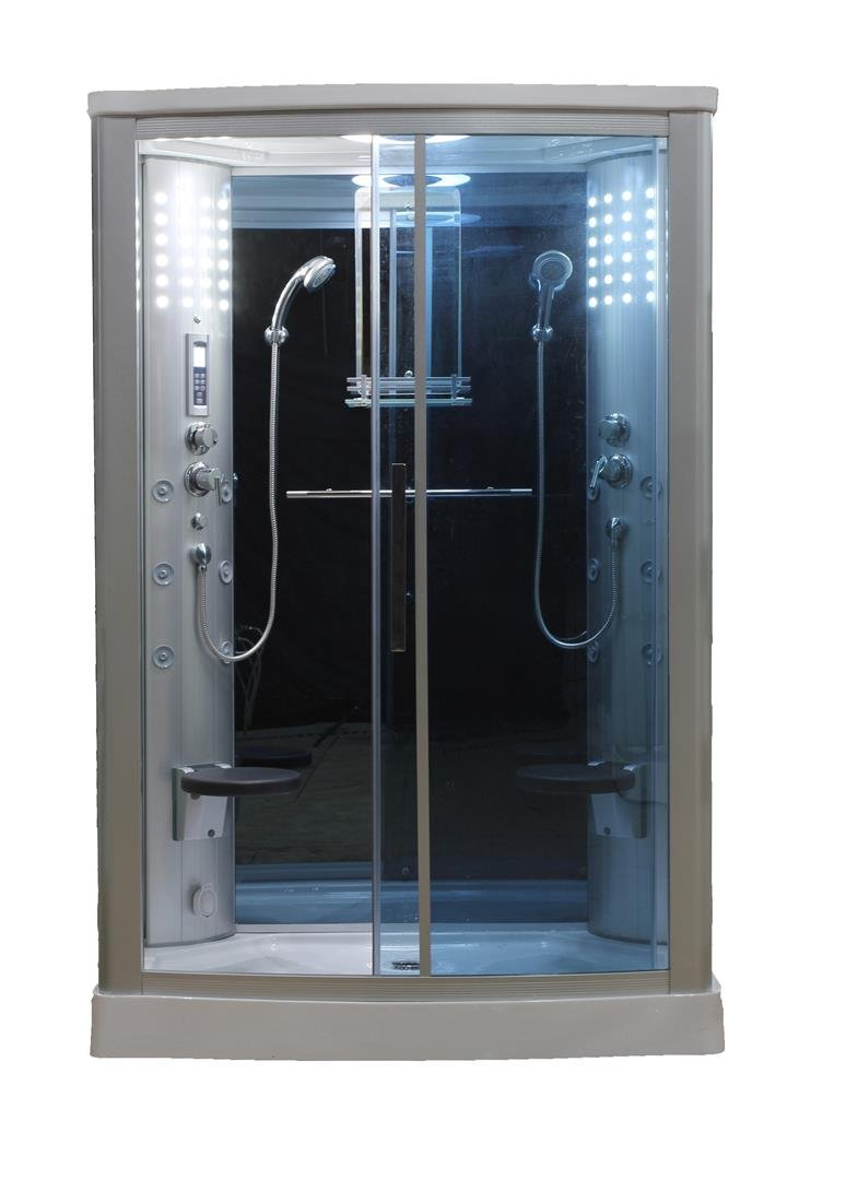 WS-803L 110v ETL Certified Steam Shower Enclosure 3KW generator with ...