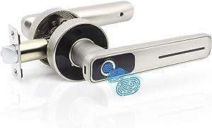 Geek Smart Fingerprint Door Lock - Biometric Door Knob Keyless Entry Door Locks for Homes/Apartments/Office/AirBnB/Hotels (Silver)