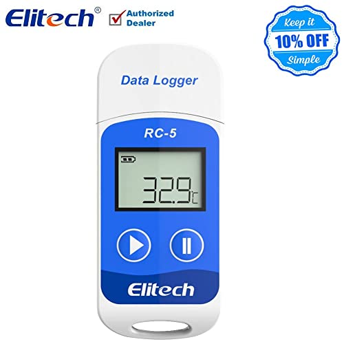 Therm Temperature Data Logger USB LCD Display Temperature Data logger 32000 Points Record Capacity (1 PCS)