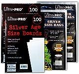 Ultra PRO Silver Size Comic Board & Comic Bag 2 Pack Bundle