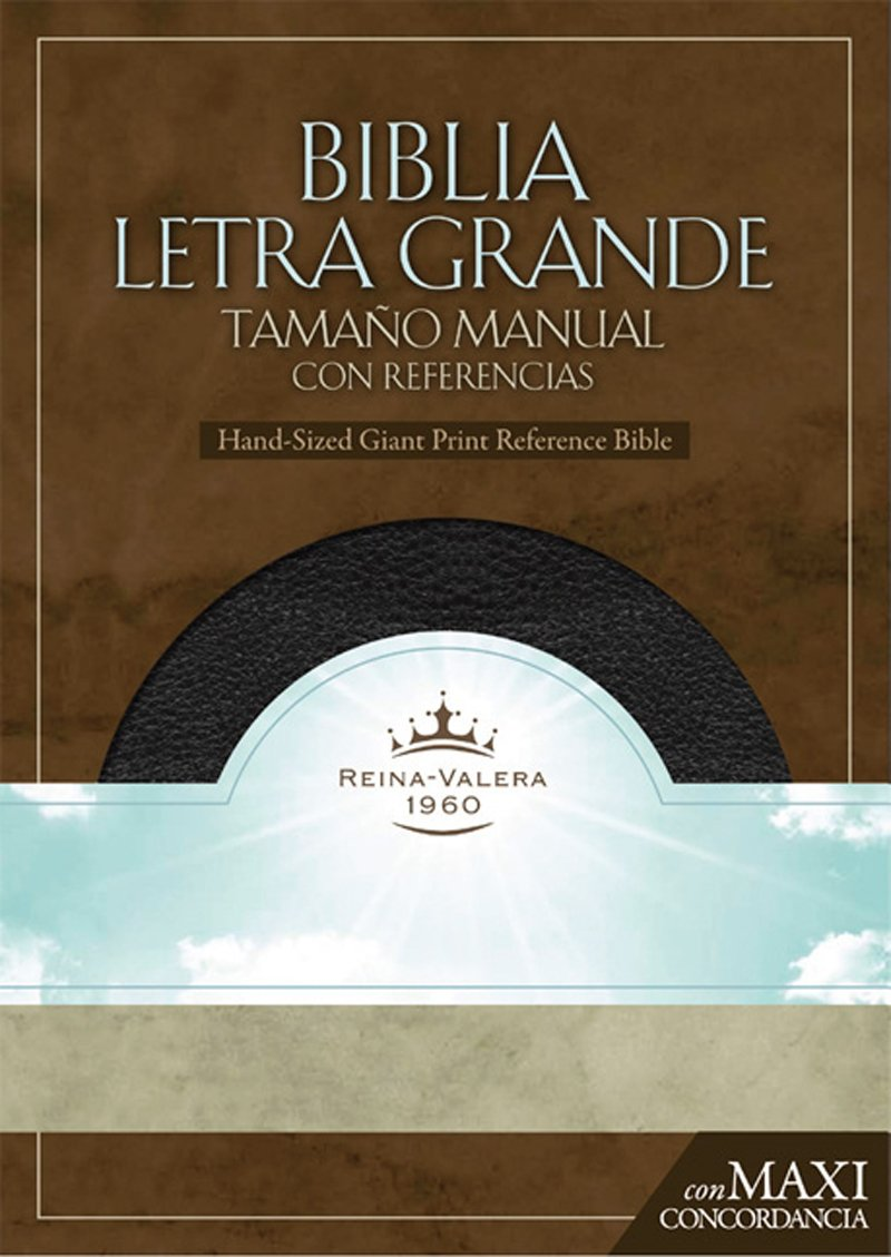 RVR 1960 Biblia Letra Granda Tamaño Manual, negro símil piel ...