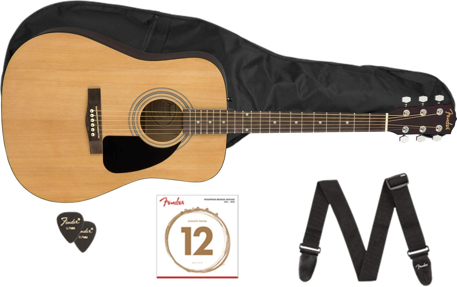 FENDER FA115 DREAD PACK NATURAL GUITARRA ACÚSTICA: Amazon.es ...