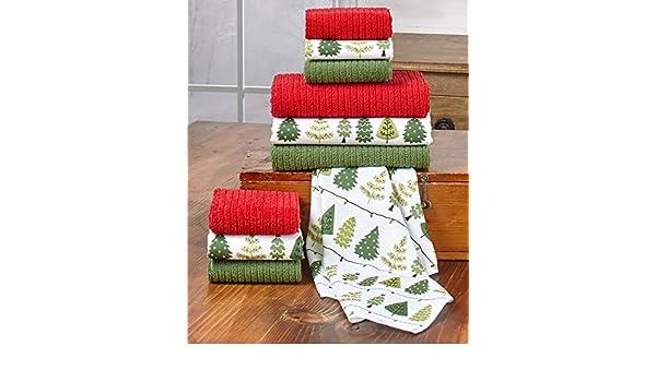 10 piezas Set de toalla/paño de Navidad - gran para Navidad regalo de y su Navidad cocina: Amazon.es: Hogar