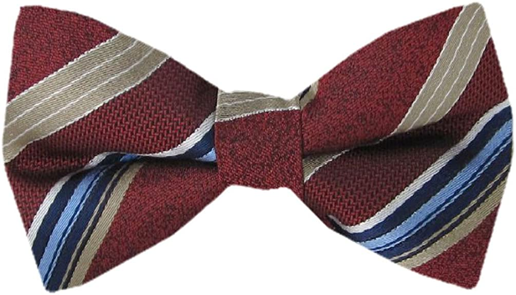Boys Silk Fashion Banded Pre Tied Bow Tie