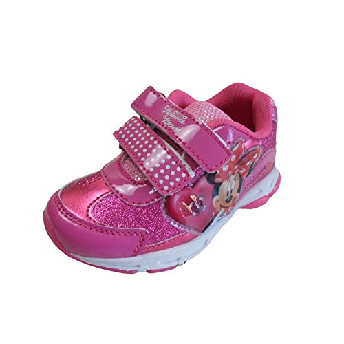 MINNIE MOUSE DISNEY Scarpe Sportive Bambina con LUCI a Strappo Colore  Fuxia  Amazon.it  Scarpe e borse 4db948083a0