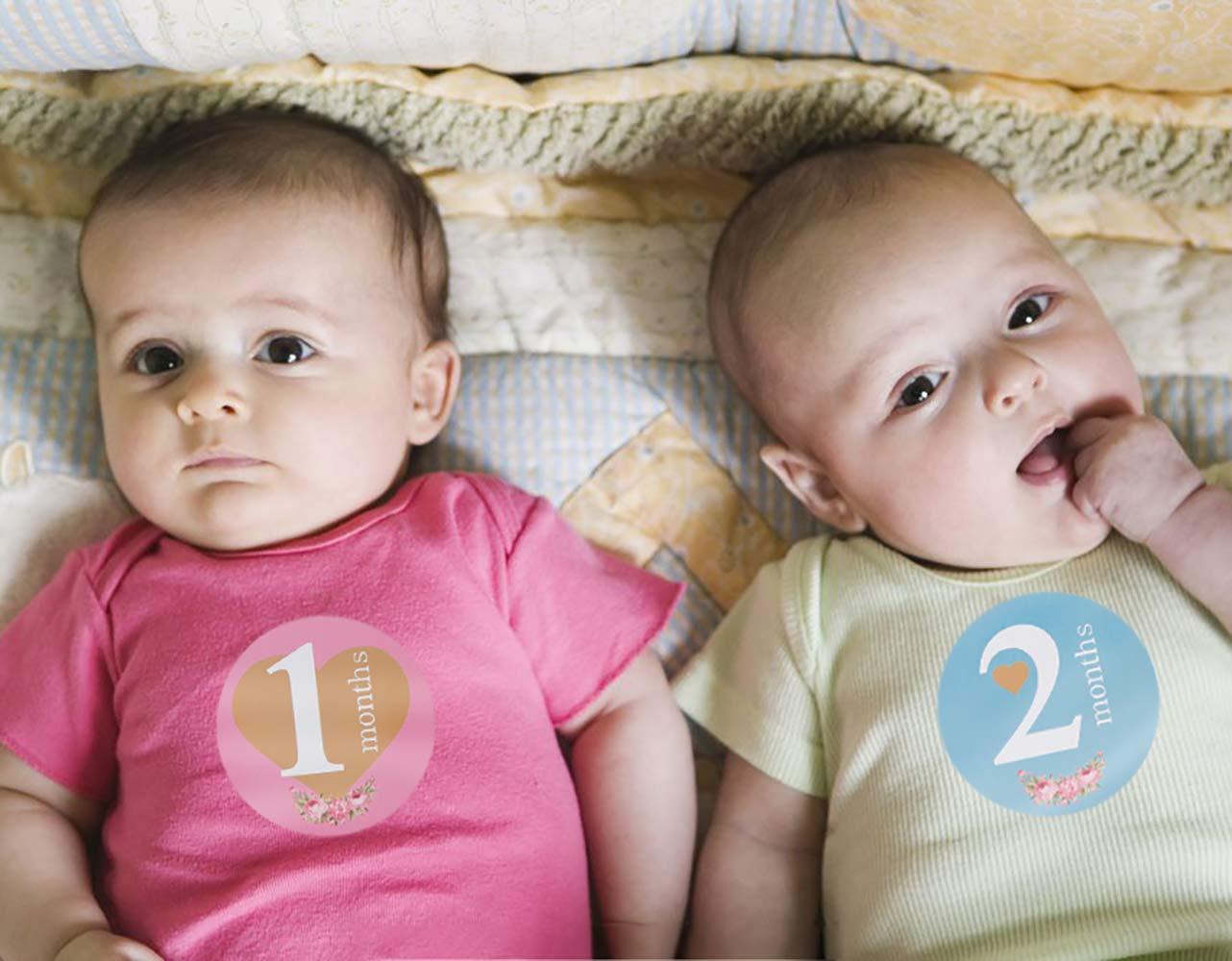 Adorable Baby Meilenstein Aufkleber f/ür Neugeborene M/ädchen Boy ersten Jahr 40er Set beste Baby Shower Registry Geschenk oder Scrapbook Foto Memory Keepsake Baby monatliche Aufkleber -