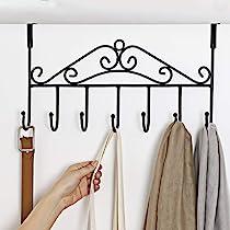 Over Door Valet Hook For Clothes Hangers Storage Coats Hats Robes Or Towels Sing