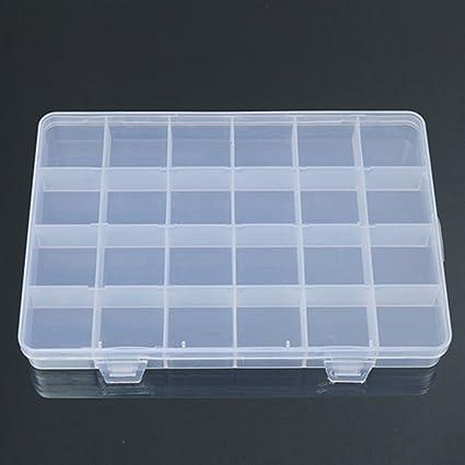 3 Grids Clear Plastic Storage Organiser Compartment Craft Bead Box Case Gadget