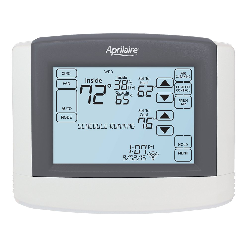 Aprilaire 8620W Touchscreen Wi-Fi Thermostat; Works with Alexa