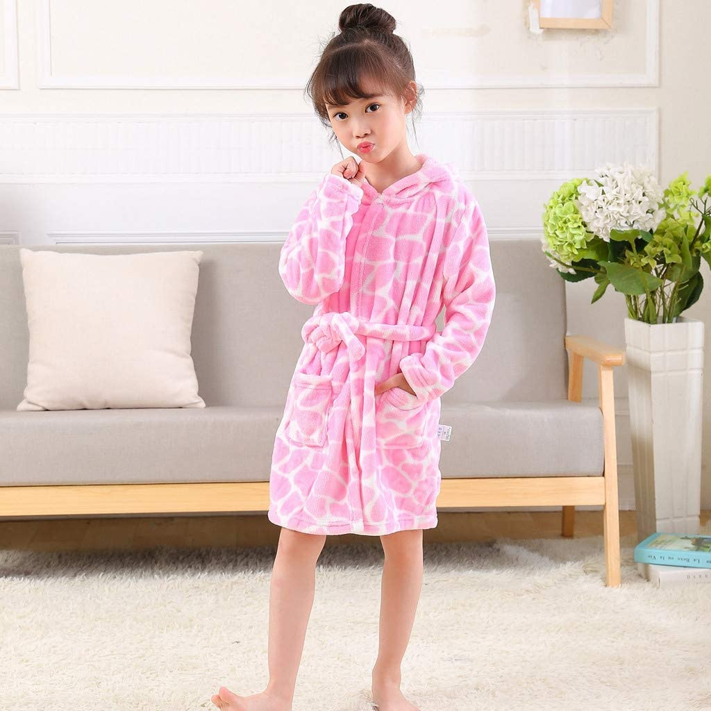 *NEW* BABY GIRLS FLUFFY FLEECEY WHITE PINK HOODED DRESSING GOWN BATH ROBE 0-3 3