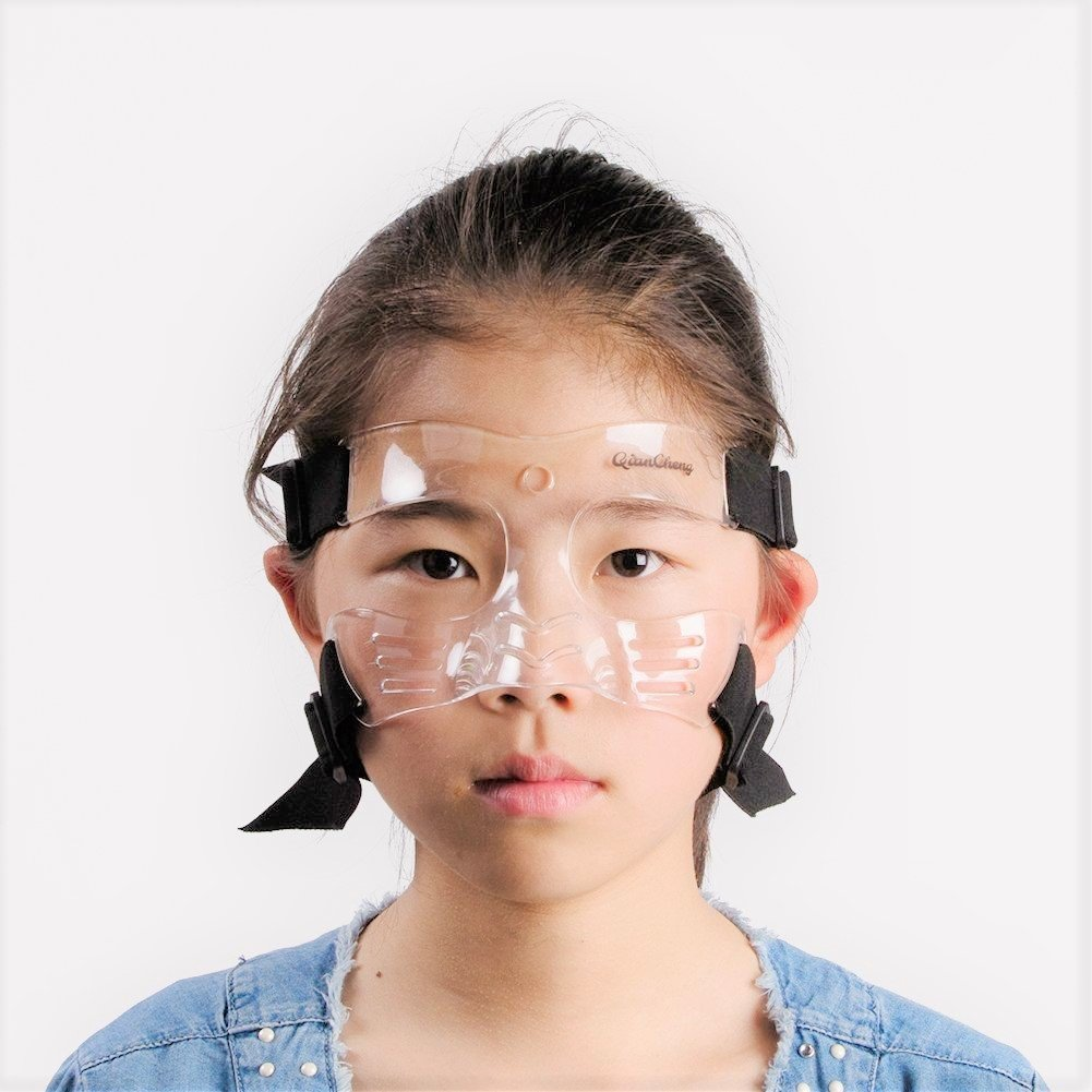 Qiancheng Nose Guard Face Shield, Protective Face Mask L5 Small Size with Padding for Children and Teenagers, QC-L5-S by Qiancheng
