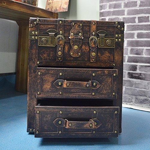 DDSS Drawer Locker-Nightstand Coffee Table Sofa Side Tables Coffee Tables Side Cabinet Side Table Modern Bedroom Table Furniture(41x37x49cm) / (Color : C)