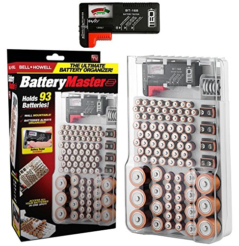 Bell + Howell BATTERY MASTER, Tester/Checker, Storage, Organizer, Holder As Seen On TV (Original)