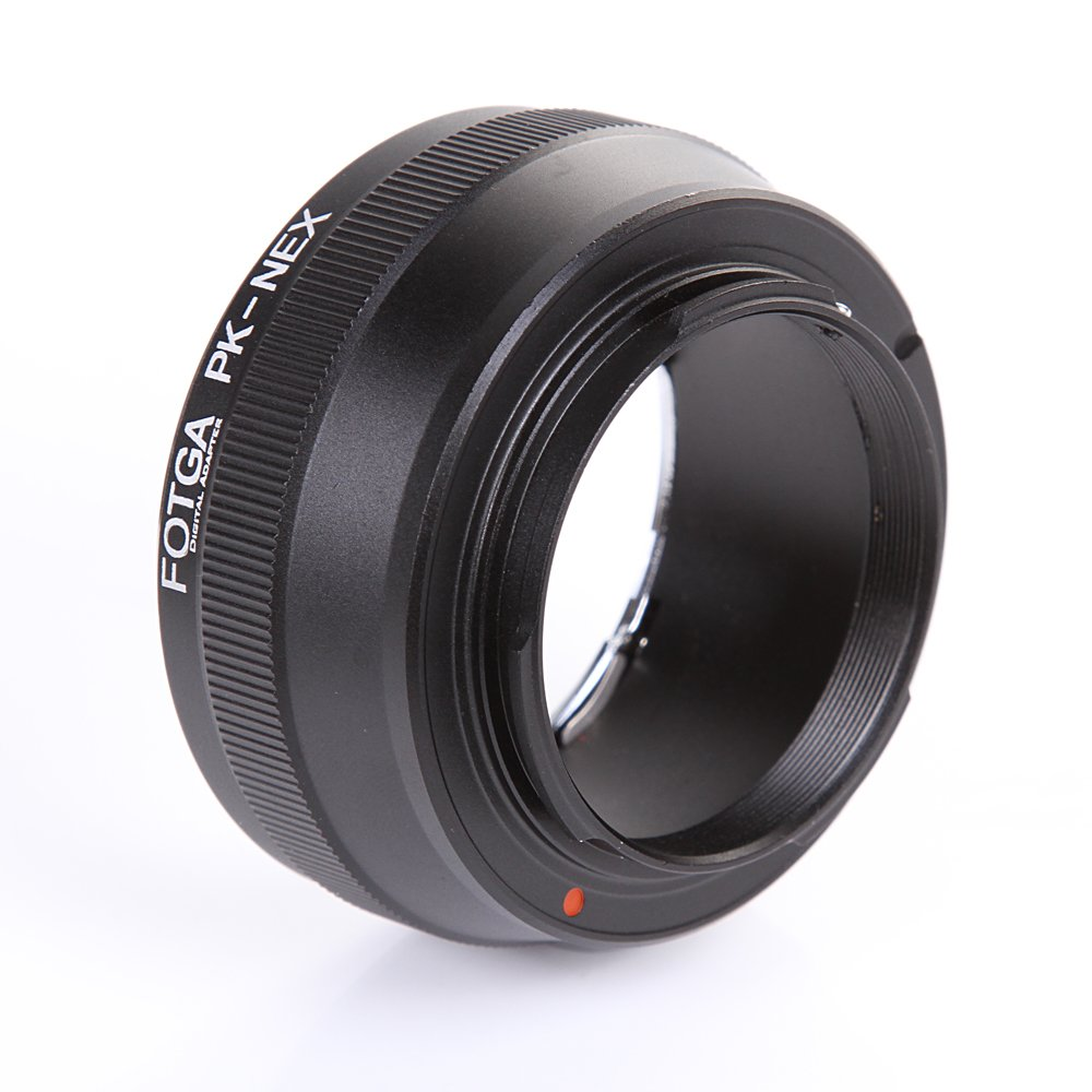 FocusFoto FOTGA Adapter Ring for Pentax PK K Lens to Sony E-Mount Mirrorless Camera NEX-5R 5T 3 NEX-6 NEX-7 a7 a7S a7R a7II a7SII a7RII a6500 a6300 a6000 a5100 a5000 a3500 NEX-FS700 VG30 VG900 PXW-FS7