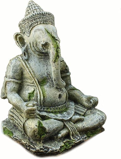 Omem Décoration D Aquarium Statue De Bouddha Ganesh Amazon Fr Animalerie