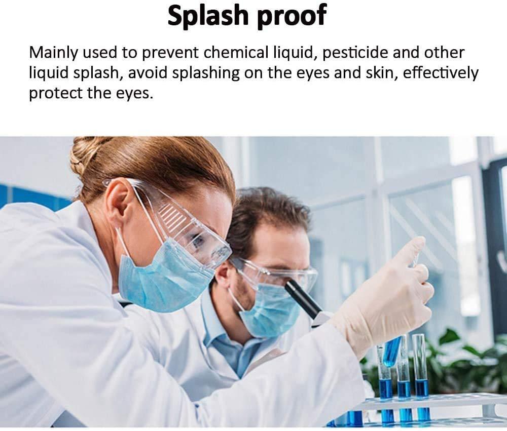 SGODDE Gafas de Seguridad,Gafas M/édicas Anti-virus,Protecci/ón Ocular,Anti-virus,Anti-vaho,Anti-saliva,Gafas de Visi/ón Completa Transpirables a Prueba de Salpicaduras,para adultos//ni/ños unisex