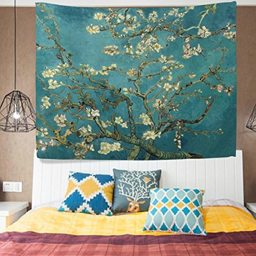 Art Deco Hanging (HMWR Wall Hanging Tapestry Art Vincent Van Gogh Almond Blossom Tree Wall Dorm Decor 60