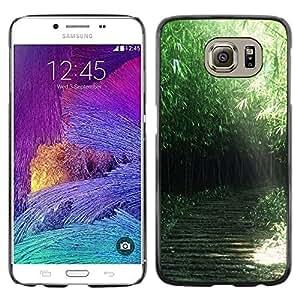 Smartphone Rígido Protección única Imagen Carcasa Funda Tapa Skin Case Para Samsung Galaxy S6 SM-G920 Nature Green Forrest / STRONG