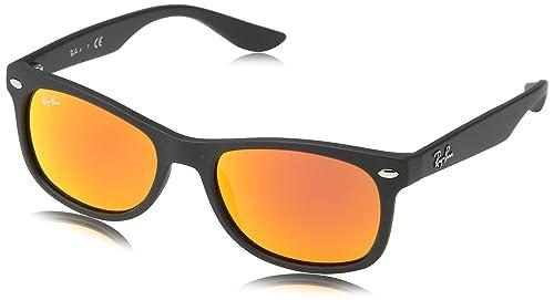 Ray-Ban Rj9052S Gafas de sol, Rectangulares, 49, Matte Black