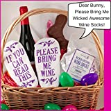 Wine Socks - If You Can Read This Bring Me A Glass Of Wine, Funny Novelty Ankle Socks. Best For Women Or Confident Men With A Sense Of Humor.