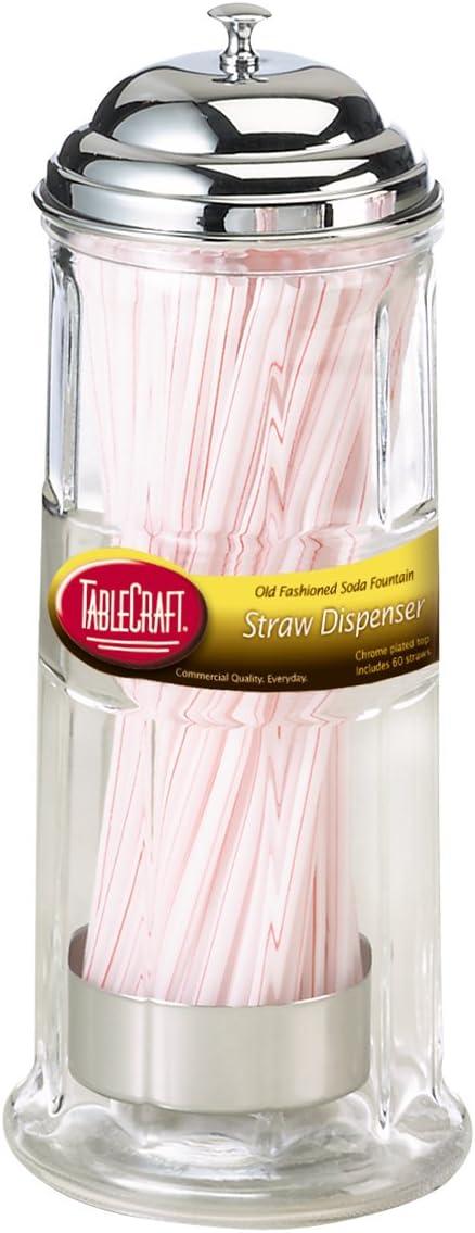 TableCraft Straw Dispenser, Includes Straws