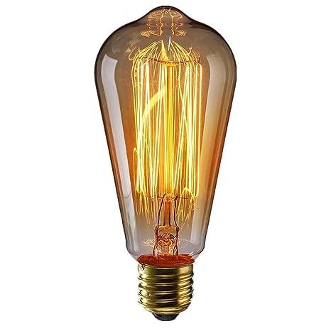 Kingso À E27 Antique Chaud Vintage Classique Dimmable St64 220v Incandescence Blanc Ampoule 60w Edison Tungstène Lampe Décorative Filament nk8w0OP