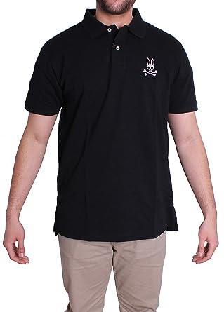 Psycho Bunny Conejo Polo Camiseta Hombre, Negro -: Amazon.es: Ropa ...