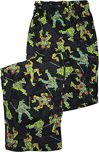 TMNT Teenage Mutant Ninja Turtles Black Graphic Sleep Lounge Pants XX-Large (Ninja Turtles Sensei)