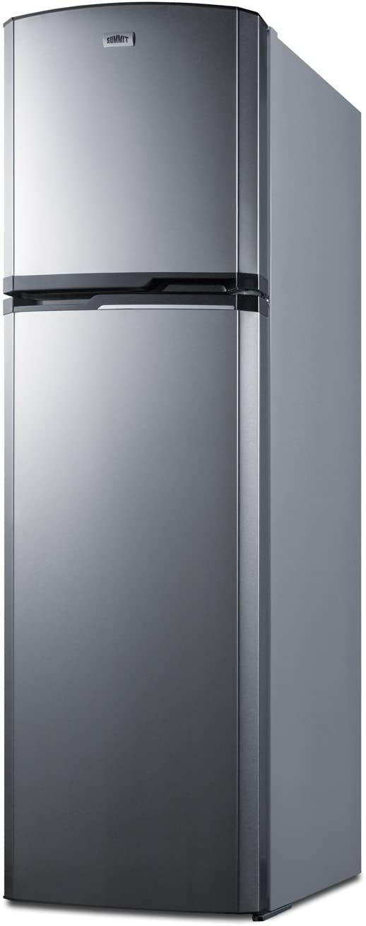 "Summit FF948SS 8.8 cu.ft. Frost-Free Refrigerator-Freezer In Slim 22"" Width For Small Kitchens, Stainless Steel"
